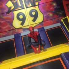 Spiderman at jump
